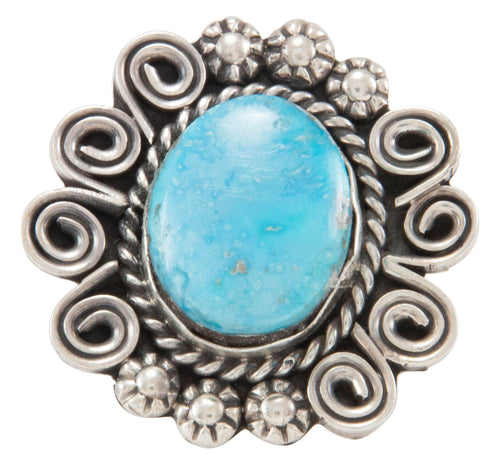 Navajo Native American Turquoise Mountain Ring Size 8 by Johnson SKU231112