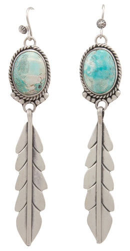 Navajo Native American Rio Chico Turquoise Earrings by Martha Willeto SKU231520