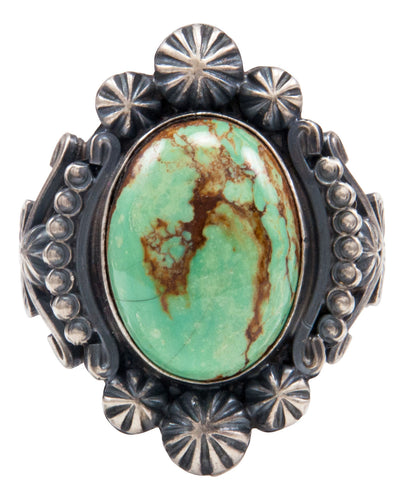 Navajo Native American Royston Turquoise Ring Size 12 3/4 by Calladitto SKU232028