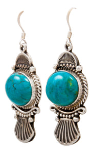 Navajo Native American Kingman Turquoise Earrings by Calladitto SKU232129