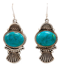 Load image into Gallery viewer, Navajo Native American Kingman Turquoise Earrings by Calladitto SKU232129