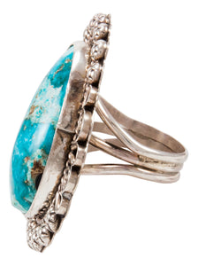 Navajo Native American Candelaria Turquoise Ring Size 9 1/4 by Lee SKU233001