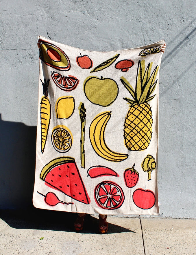 Fruits & Veggies Throw