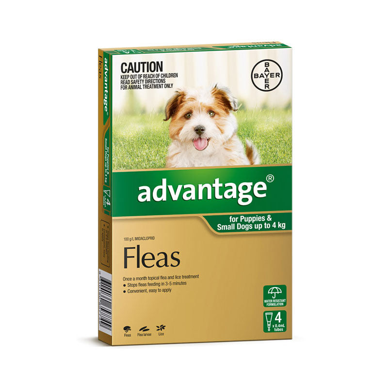 Advantage Small Dogs upto 4kg (4 Pack)