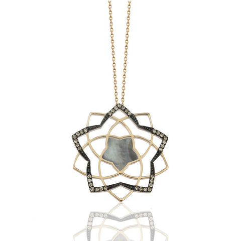 Lotus Black Shadow Necklace