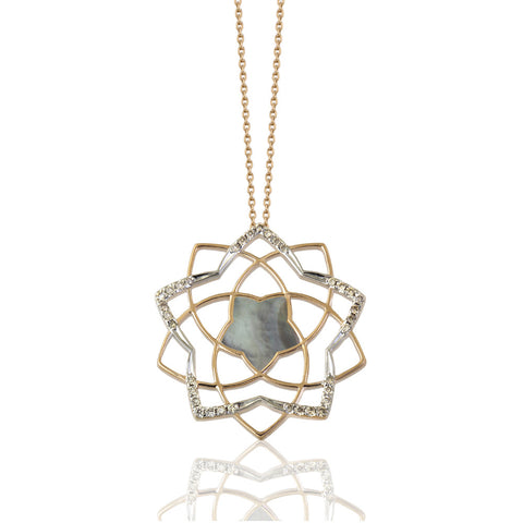 Lotus Sparkle Shadow Necklace