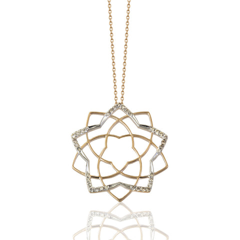 Lotus Sparkle Necklace