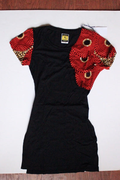 Ankara Shoulder Detail Dress