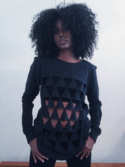 Bakuba Looping Triangles Shirt