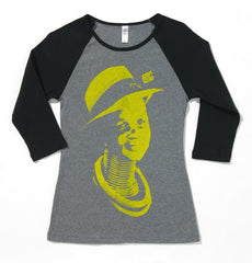 Afrodzac* Style and Grace II (Ladies) RAGLAN BLACK/GREY