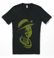 Afrodzac* Style and Grace II (Men's) BLACK V-Neck Tee