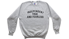 AITF Heather Grey Motto Sweatshirt