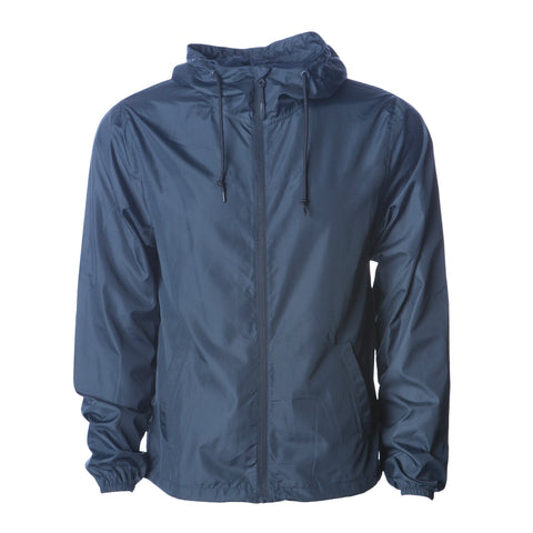 'Essentials Lightweight Windbreaker' (Navy)