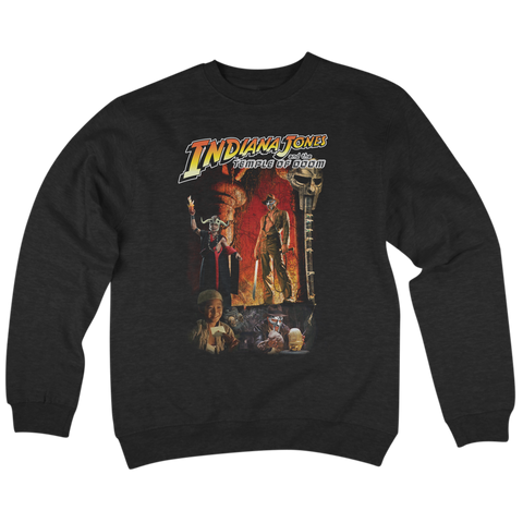 'Temple Of DOOM' Crew Neck Sweatshirt (Black)