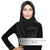 Matte Satin Snood Grande - Black