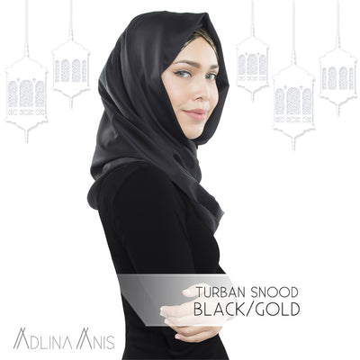 Turban Snood - Black/Gold