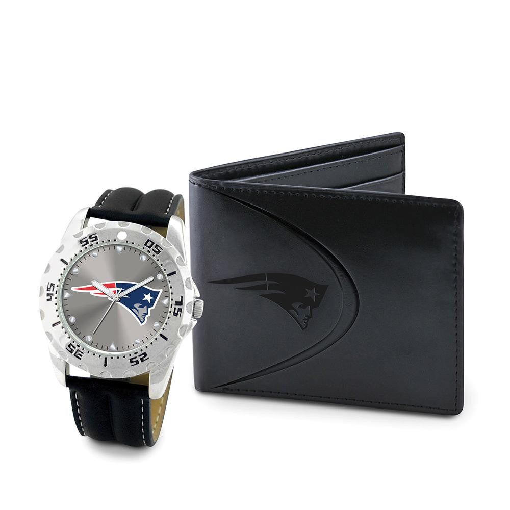 New England Patriots NFL Men's Watch & Wallet Set xyz