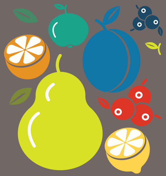 716 fruit illustrations / icons