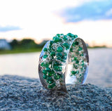 Emerald & Sterling Bracelet by Nikki Sedacca at Garden of Silver in Westhampton Beach, New York.