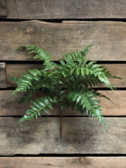 "ITEM 11226 - 19"" FRESH TOUCH LEATHER FERN BUSH X 5"