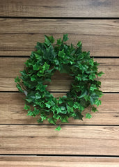 "ITEM 12211 - 9"" GREEN ENGLISH IVY WREATH WITH 220 LEAVES"