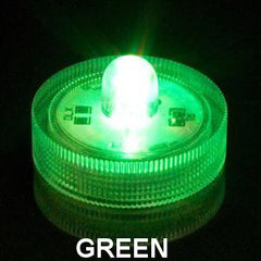 ITEM 1274 GR - LED GREEN SUBMERSIBLE T-LITE WITH ONE BULB