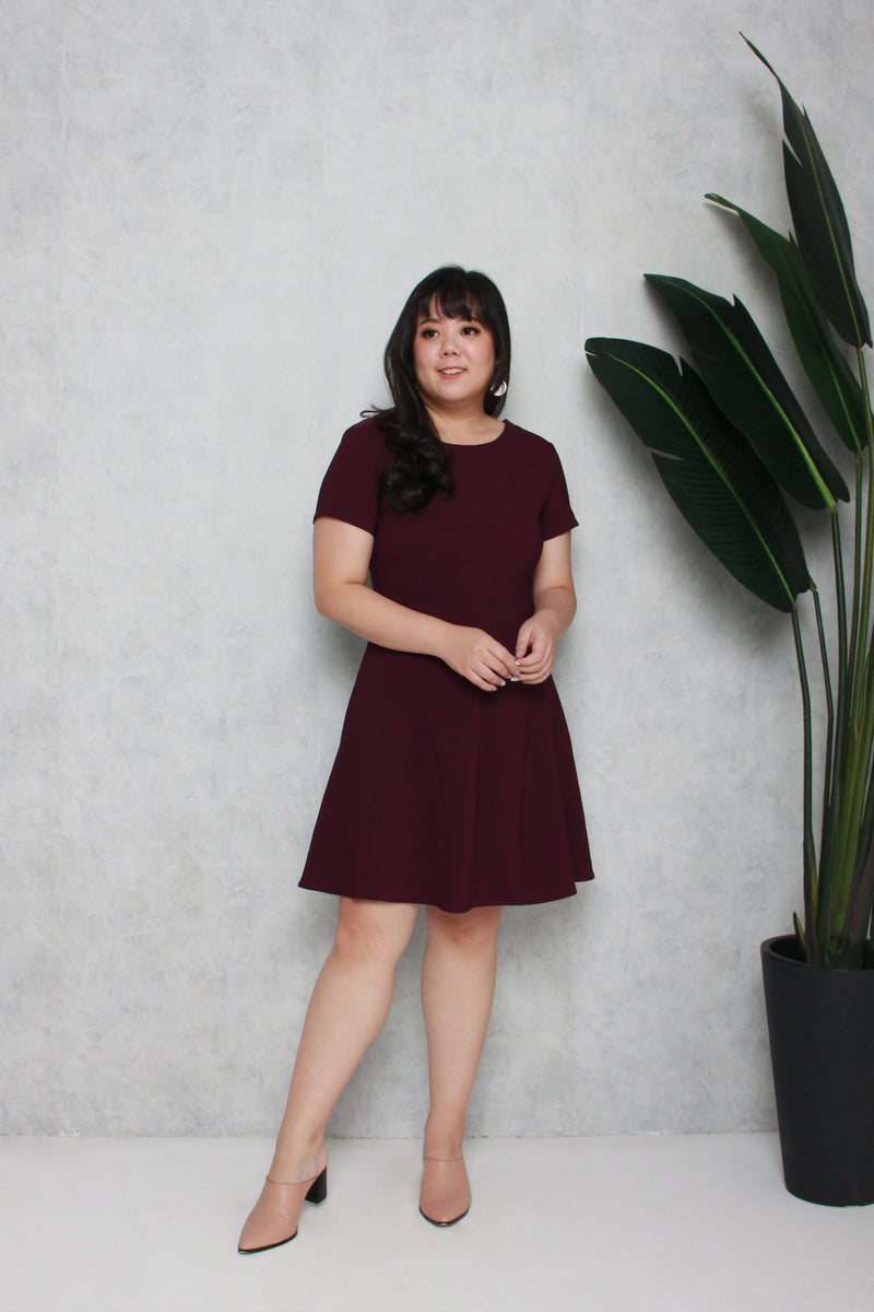 Classic Skater Dress (Maroon), Dress - 1214 Alley