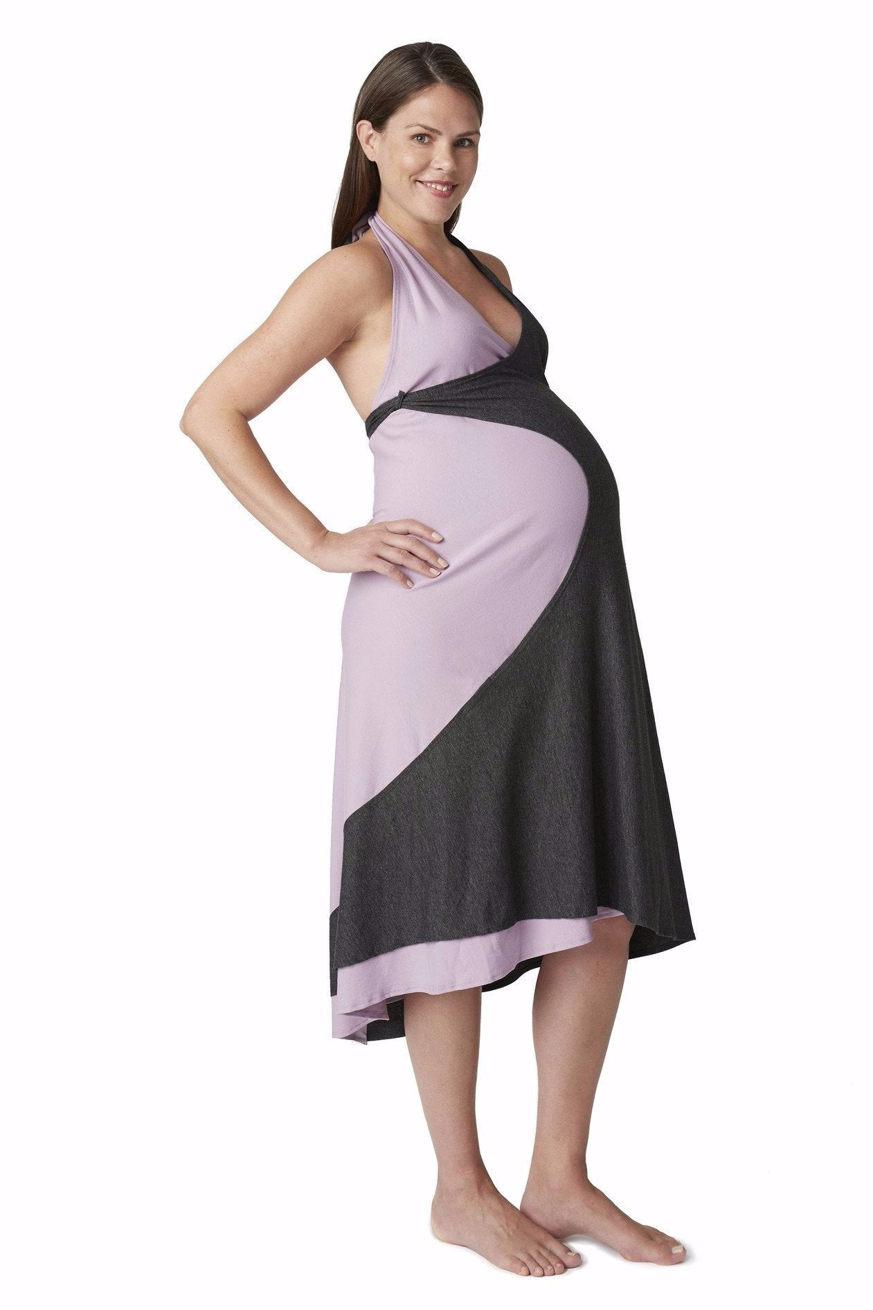 A single dress for Maternity, Birth, and Breastfeeding