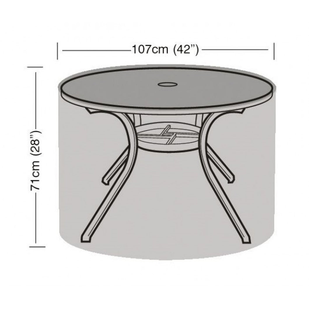 Garland Deluxe 4 Seat Round Table Garden Furniture Cover (W1360)