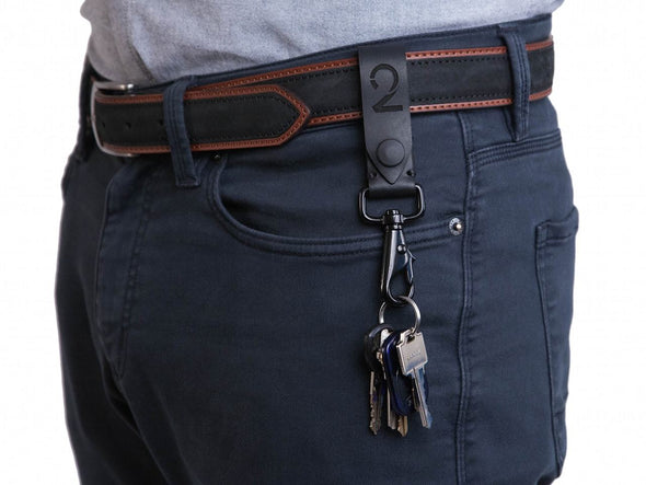 Accessories - Leather Belt Loop Keychain