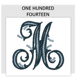Font ONE HUNDRED FOURTEEN