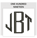 Font ONE HUNDRED NINETEEN