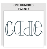 Font ONE HUNDRED TWENTY