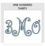 Font ONE HUNDRED THIRTY