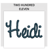 Font TWO HUNDRED ELEVEN