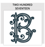 Font TWO HUNDRED SEVENTEEN