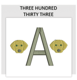 Font THREE HUNDRED THIRTY THREE
