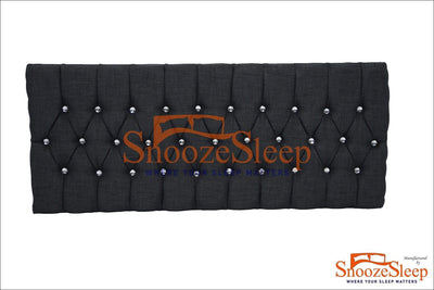 "SnoozeSleep 2ft 6"" / Diamond Chesterfield design 24"" Headboard Collection"