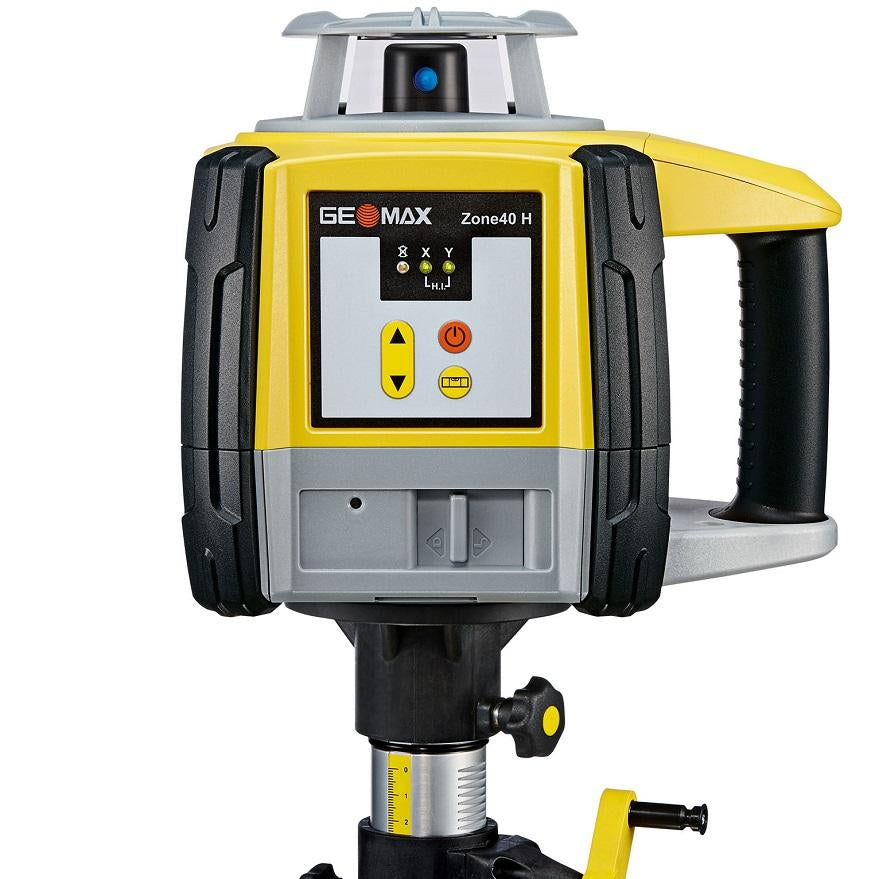 GeoMax Zone40 H Rotating Laser Level with ZRP105 Pro Laser Receiver, Alkaline Battery