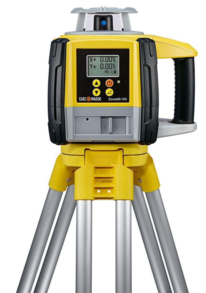 GeoMax Zone60 HG Rotating Laser Level with ZRD105 Digital Laser Receiver, Dual Grade Laser