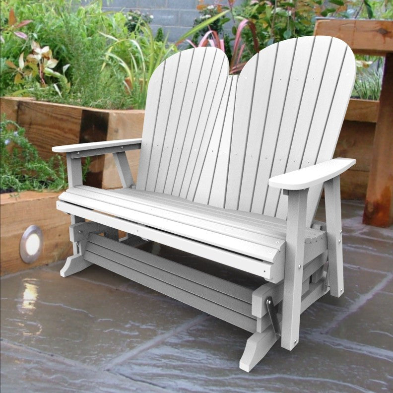 Malibu Outdoor Living Jamestown Adirondack Double Glider - White