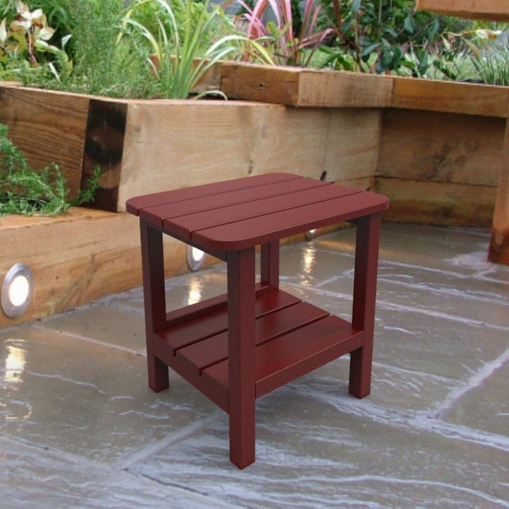Malibu Outdoor Living End Table - Red