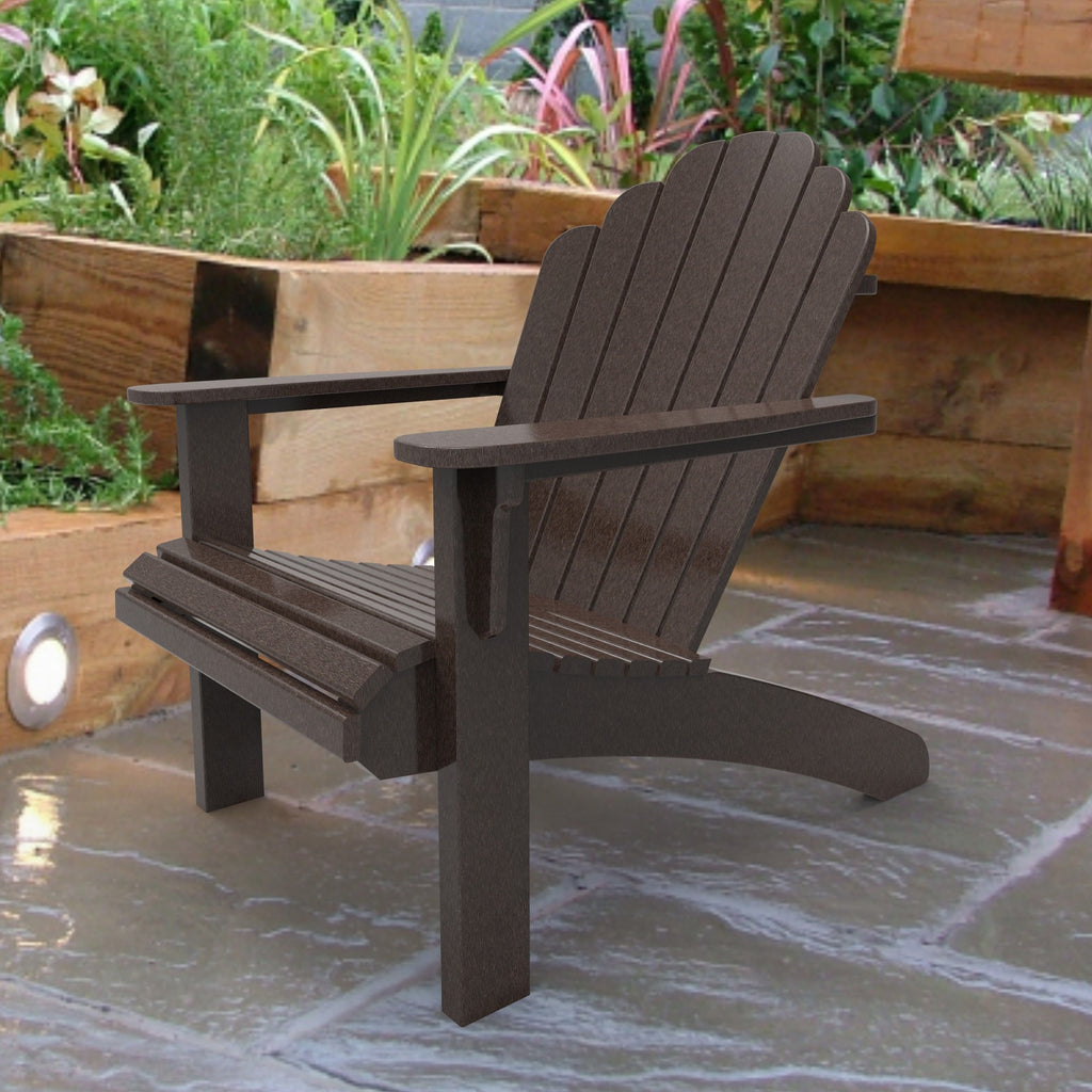 Malibu Outdoor Living Hampton Adirondack Chair - Dark Brown