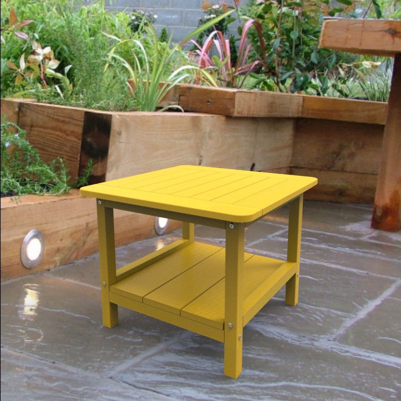 Malibu Outdoor Living Square End Table - Yellow
