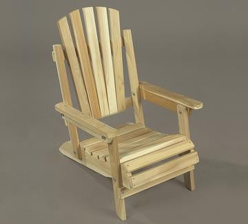 Rustic Natural Cedar Kids Junior Adirondack Chair - Natural
