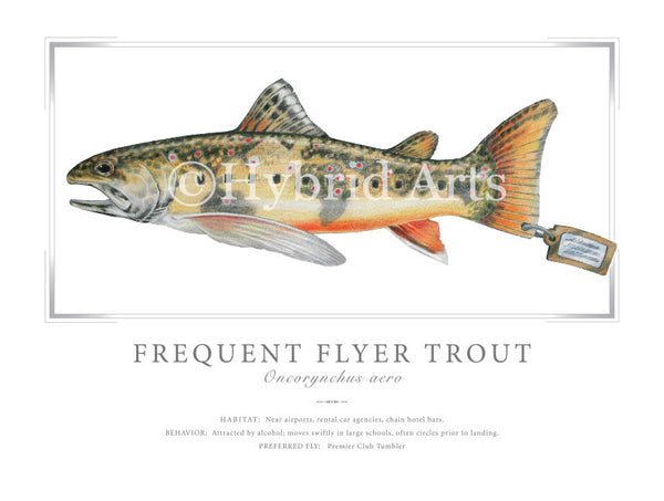 Frequent Flyer Trout Print