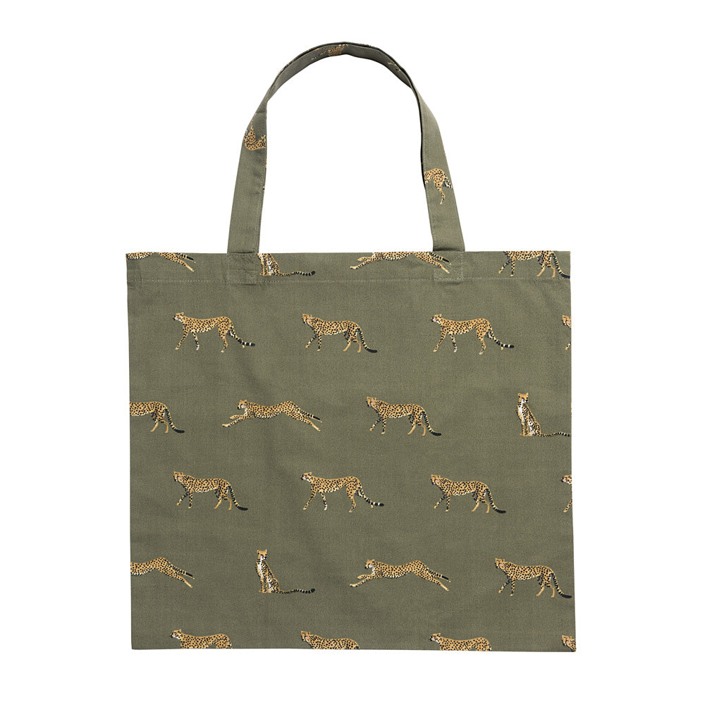 Cheetah Folding Shopping Bag