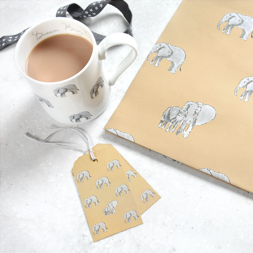 Elephant Gift Tag - Set Of 8