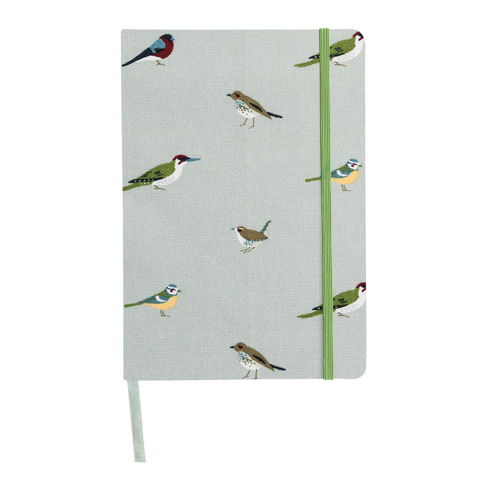 Garden Birds A5 Fabric Notebook