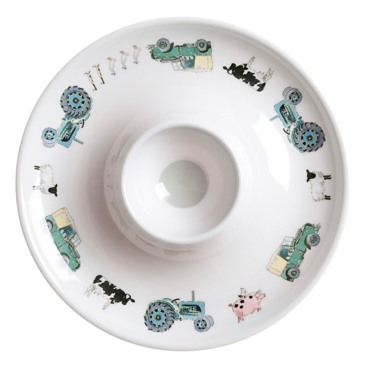 On The Farm Kid's Melamine Egg Cup Saucer